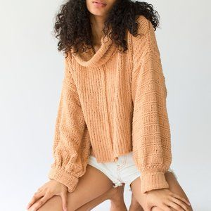 Free People Be Yours Pullover Sweater size LARGE